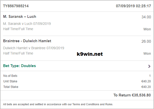 Double Bet Fixed Predictions